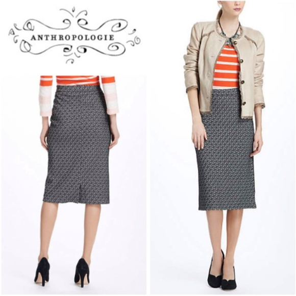 ba872225113 Anthropologie Dresses   Skirts - Maeve Intarsia Geotile Knit Pencil Skirt M